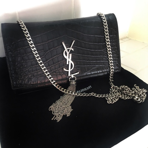 YSL Saint Laurent Monogram Kate Tassel ShoulderBag.  M 5a6e1e3284b5cecf4178497c 19ac25919eaa5
